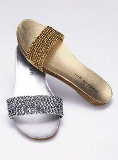 Sparkle Slide Sandal..victoriasecret    Live a luscious life with LUSCIOUS: www.myLusciousLife.com