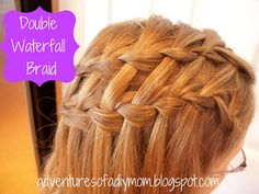The Double Waterfall Braid | 23 Creative Braid Tutorials That Are Deceptively Easy