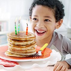 kids birthdays - celebrate with candles bfast, lunch, dinner/cake