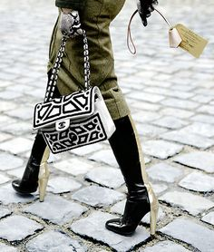 Oh, that Chanel bag... and those boots...