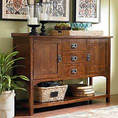 I love this piece.  $1279 Bassett Furniture Grove Park Sideboard