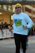 Finish at 2010 Des Moines Half Marathon.