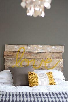 "Frugal Life Project: DIY: ""Love"" Headboard"