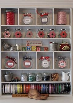 A bookshelf will make for a great place to store crafts