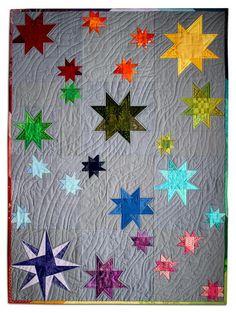 Wonky Stars on Gray. Love.