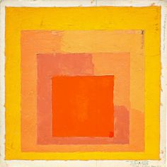 Josef Albers, Color Study for Homage to the Square, not dated. more artists at http://MutualArt.com