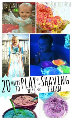 Just Shaving Cream Over 20 fun ways to play with shaving cream.  Grab a can and fight that boredom! - Pinned by @PediaStaff – Please Visit  ht.ly/63sNt for all our pediatric therapy pins