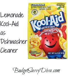 Lemonade Kool-Aid as Dishwasher Cleaner