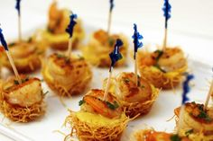 Shrimp with phyllo