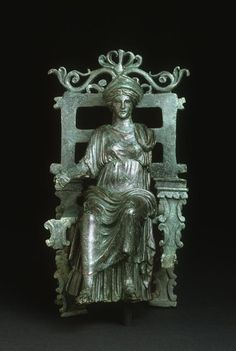 Enthroned Figure, Roman statuette (bronze), 1st century AD, (Art Institute of Chicago).