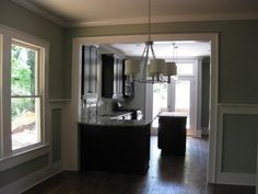 small kitchen layout widen doorway to dining room?