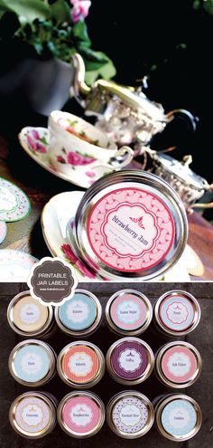 Printable Mason lids-LOVE MASON JARS