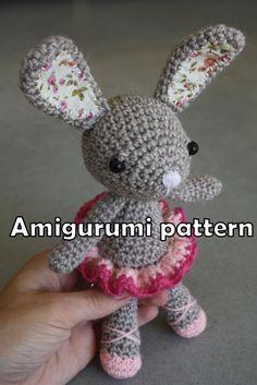 PATTERN - ballerina bunny, crocheted amigurumi toy