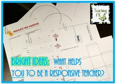 Bright Ideas link up for April - 150 teaching posts, NO product plugs. Check out the folder I set up in my classroom to help me better respond to student needs in the moment