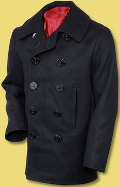 1910 style navy pea coat