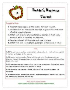 Reading Response Journal CCSS