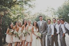 love the groomsmen just in vests and groom in jacket