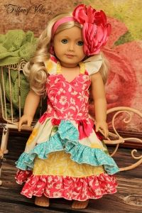 """Sarafinas Fitted Party Dress 18"""" Doll Size PDF Sewing Pattern by Create Kids Couture"""