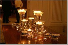 candle centerpieces for wedding reception