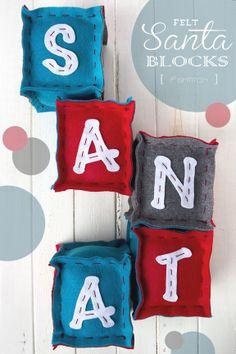 DIY Santa Blocks