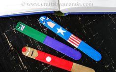 DIY Avengers Bookmarkers