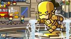 Another adventurous day for Maxwell. Could this be a new friend? #Scribblenauts #ScribblenautsUnmasked #DCComics #TwoFace #TheFlash