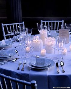candles covered with lace centerpieces
