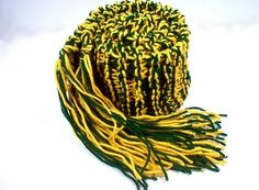Knit Green & Gold scarf