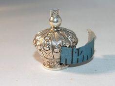 Fine Victorian Silver Crown Tape Measure