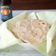Homemade tortillas, made with beer.