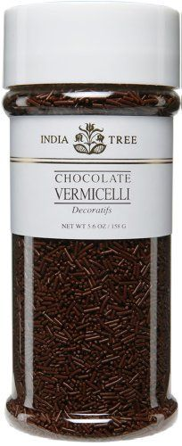 India Tree Chocolate Vermicelli, 5.6-Ounce (Pack of 2) by India Tree. $13.08