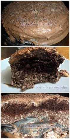 Bolo Gelado de Chocolate Diet