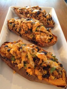 Mexican twice baked potatoes with Chobani.
