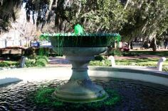 Greened fountain  A