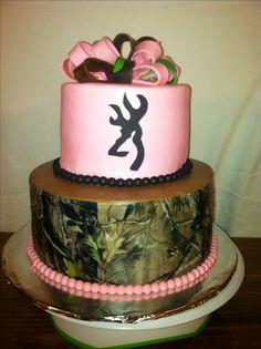 Pink & Camo cake