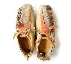 19th century Plains Indian Moccasin