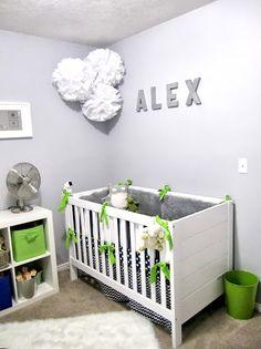 Blue and Green Nursery #nursery #babyboy