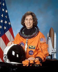 Ellen Ochoa, Dr. Ochoa has logged over 978 hours in space, earning the US Distinguished Service Medal, Exceptional Service Medal, Outstanding Leadership Medal, and four NASA Space Flight Medals. 1st Hispanic woman in space. She designed optical systems for Sandia National Laboratory and at NASA's Ames Research Center developed computer systems designed for aeronautical expeditions. Deputy Director of the Johnson Space Center (Houston, TX)