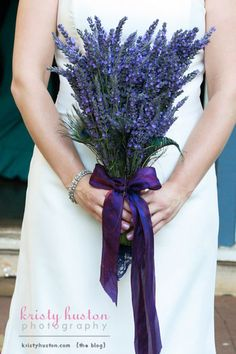 Lavender #Hand-tied #purple #bouquet ... #purple #wedding … Wedding #ideas for brides, grooms, parents & planners https://itunes.apple.com/us/app/the-gold-wedding-planner/id498112599?ls=1=8 … plus how to organise an entire wedding, within ANY budget ♥ The Gold Wedding Planner iPhone #App ♥ For more inspiration http://pinterest.com/groomsandbrides/boards/ #fuchsia #plum #indigo peacock feathers, bridal bouquets, bridesmaid flowers, wedding ideas, wedding bouquets, lavender weddings, country weddings, purple bouquets, bridesmaid bouquets