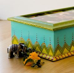 Jewelry Box Handpainted with photo top by PeggithasPieces on Etsy, $75.00