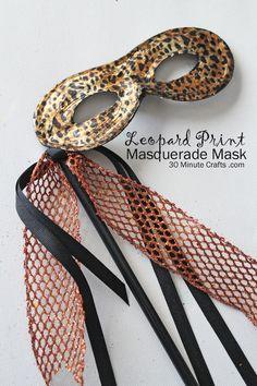 Leopard Print Masquerade Mask using Deco Foils