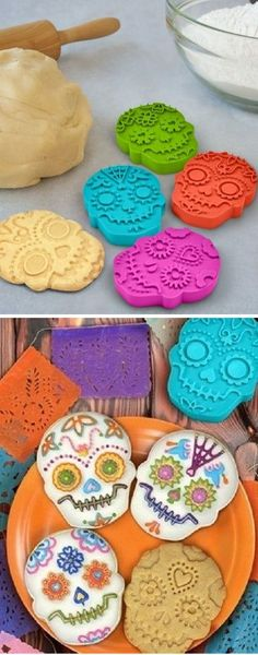 Sugar Skull Cookie Cutter Set ♥ {great for halloween}