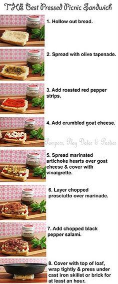 Pressed Picnic Sandwich!