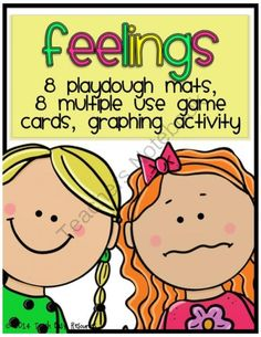 """Win a Set of Feelings Themed Playdough Mats and Games!! Enter for your chance to win 1 of 3.  Feelings Activities - Playdough Mats, Games, Graphing Activity, Pre-K to K (22 pages) from Teach Easy Resources on TeachersNotebook.com (Ends on on 9-30-2014)  Enter to win this set of """"Feelings"""" themed activities for your classroom.  It contains 8 playdough mats, 8 activity cards with 4 different game ideas, and a class graphing activity.  Take a peek at the product in my shop for ..."""
