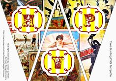 CIRCUS Printable Toppers Tent Cards & Favor by Dunham Design Company