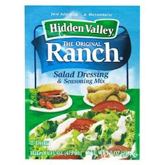 Homemade ranch dressing mix to replace the packets.
