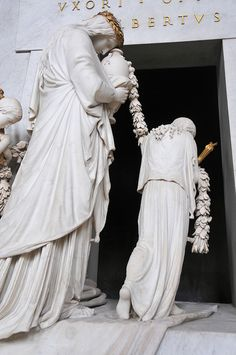 Hofburg Palace - Augustinerkirche - Cenotaph for Marie Christine of Austria by Antonio Canova, detail, 1805. Vienna.