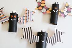 bat craft, halloween toilet, toilet paper rolls, bats, craft idea, roll craft, blog, roll bat, crafts