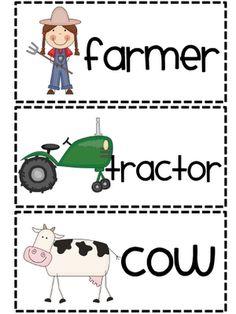 Farm word wall words ... cute!