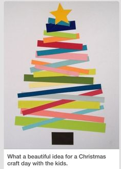 Kid crafts. christmas tree. good idea for my toddlers